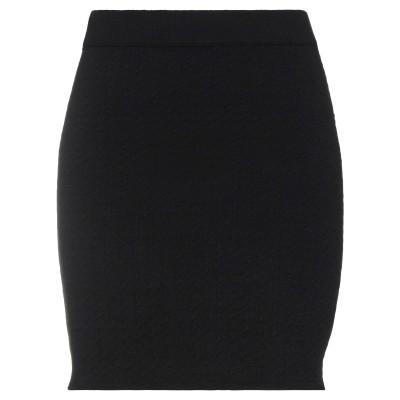 DIXIE ひざ丈スカート ブラック M レーヨン 52% / ナイロン 28% / ポリエステル 20% ひざ丈スカート