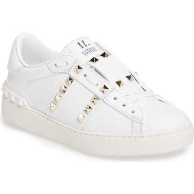 ヴァレンティノ VALENTINO GARAVANI レディース スニーカー シューズ・靴 Rockstud Sneaker White Leather