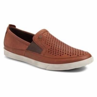 エコー スリッポン・フラット Collin Perforated Slip On Sneaker Amber Leather