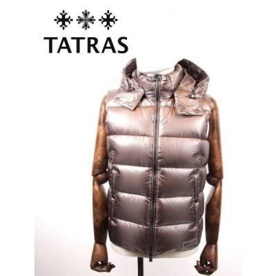 TATRAS タトラス POSEIDONE ダウンベスト メタリック MTA20A4564 GRAY グレー 国内正規品