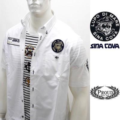 シナコバアウトレット ¥26000+税[L] 半袖 シャツ メンズ 5ポイント シナコバレーシングシャツ SINACOVA GENOVA 20301081      sc KNs m 20124570