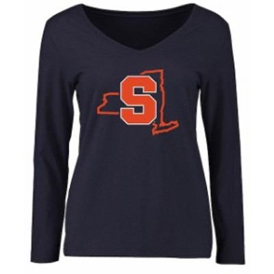 Fanatics Branded ファナティクス ブランド スポーツ用品  Syracuse Orange Womens Navy Tradition State Long Sleeve T-Shirt