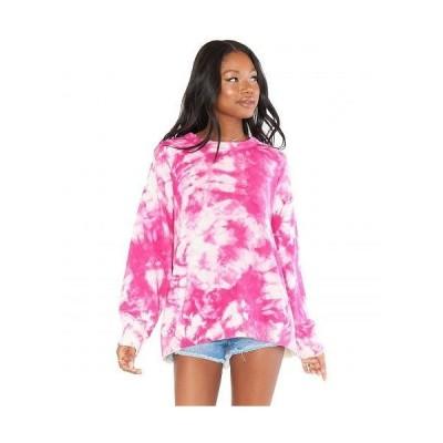 Show Me Your Mumu ショーミーユアムームー レディース 女性用 ファッション パーカー スウェット Oaklyn Sweater - Pink Tie-Dye Knit