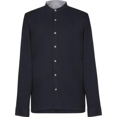 ヘリテイジ HERITAGE メンズ シャツ トップス solid color shirt Dark blue