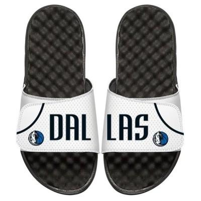 ユニセックス スポーツリーグ バスケットボール Dallas Mavericks ISlide Home Jersey Split Slide Sandals - White アクセサリー
