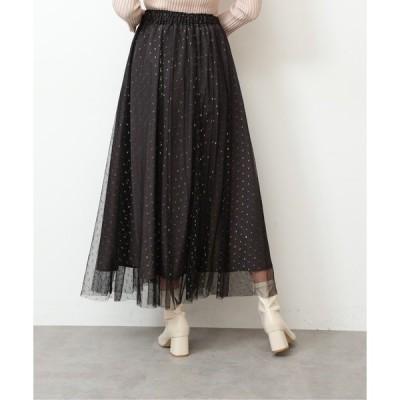 スカート ◆ドビーチュールフレアスカート