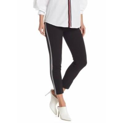 ファッション パンツ DO+BE Womens Black Size Medium M Side-Striped Slim Leg Pants Stretch #598