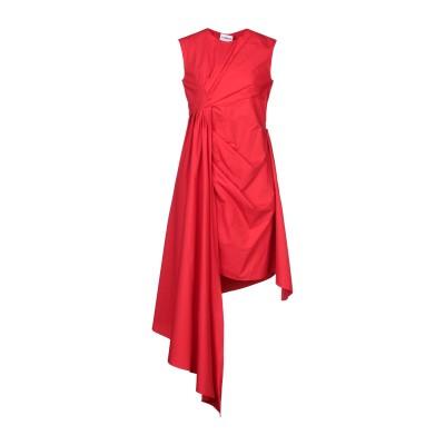 アイネア AINEA ミニワンピース&ドレス レッド 46 コットン 100% ミニワンピース&ドレス