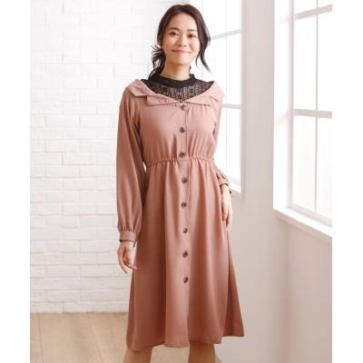 【大きいサイズ】 重ね着風レースインワンピース【RAPICHE】 ワンピース, plus size dress