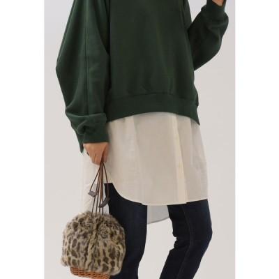 LIPSTAR / 裾シャツロングTシャツ