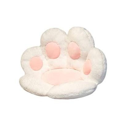猫の肉球クッション かわいいクッション 猫の肉球の形 レイジースーザン クマの肉球 チェアクッション 暖か?