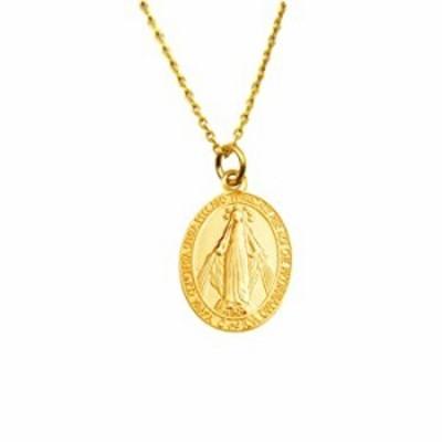 BC 925 スターリングシルバー 聖母マリア キリスト教 母ペンダントネックレス 金メッキ