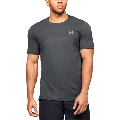 アンダーアーマー Tシャツ トップス メンズ Men's Seamless Short Sleeve T-shirt Charcoal