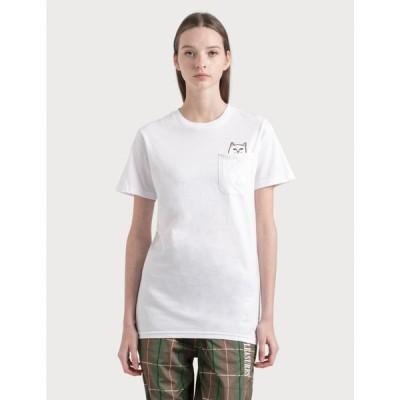 リップンディップ RIPNDIP レディース Tシャツ トップス Lord Nermal T-Shirt White