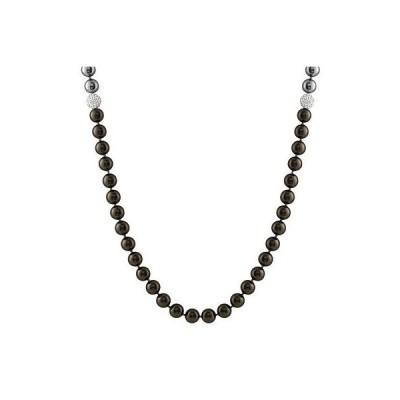 スプレンディット Pearls ネックレス ペンダント アクセサリー Mixed カラー 10ミリ shell パール ネックレス ウイズ CZ balls 36'' endless OCC-01-36
