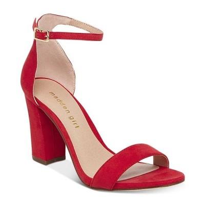 マッデンガール サンダル シューズ レディース Bella Two-Piece Block Heel Sandals Bright Red
