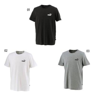 プーマ メンズ エッセンシャルズ ESS スモールロゴ Tシャツ フィットネス トレーニングウェア トップス 半袖 589041