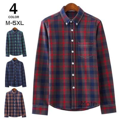 長袖シャツ メンズ ボタンダウンシャツ チェックシャツ ビジネス ワイシャツ メンズファッション お兄系