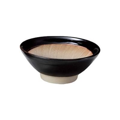ヤマキイカイ(Yamakiikai) すり鉢 黒 経15 波紋櫛目黒マット すり小鉢 5号 L1903