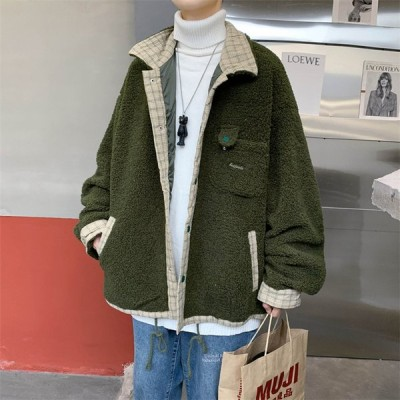 メンズ 中綿ジャケット コート 綿入れ チェック柄 カジュアル ショート 防寒 上着 男子 アウター