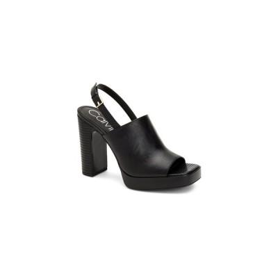 カルバンクライン サンダル シューズ レディース Women's Dottie Platform Slingbacks Sandal Black