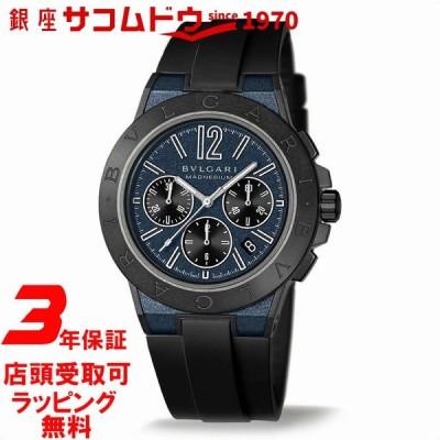 店頭受取対応 | ブルガリ BVLGARI 腕時計 ウォッチ ディアゴノ マグネシウム クロノ マグネシム&PEEK/ラバー ブルー DG42C3SMCVDCH メンズ 並行輸入品