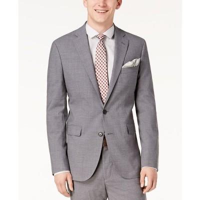 コールハーン ジャケット&ブルゾン アウター メンズ Men's Grand.OS Wearable Technology Slim-Fit Stretch Solid Suit Jacket Light Grey