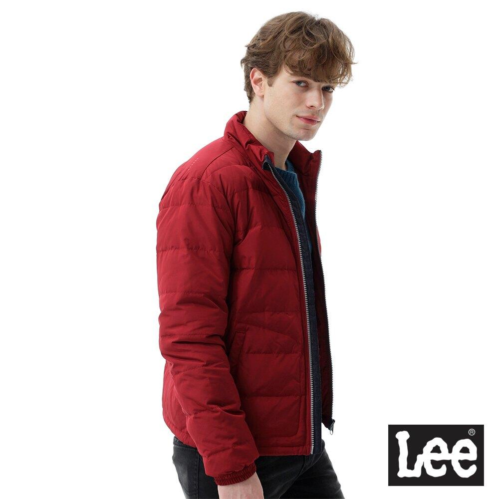 Lee 羽絨外套90 10 男款 藏紅色