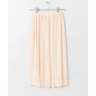 スカート カラープリーツスカート∴