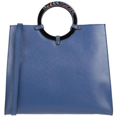 ROBERTA GANDOLFI ハンドバッグ ブルー 牛革(カーフ) ハンドバッグ