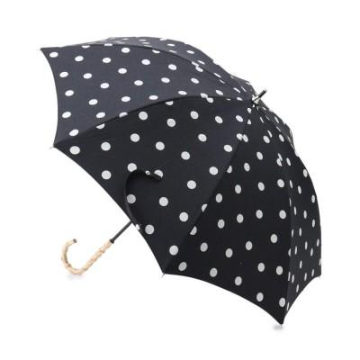 SHOO・LA・RUE/DRESKIP(シューラルー/ドレスキップ) because 晴雨兼用バンブーハンドルドット傘(長傘)