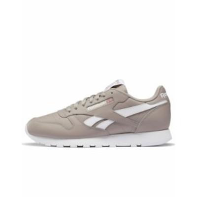 リーボック メンズ スニーカー シューズ Reebok Classic leather sneakers in gray Grey