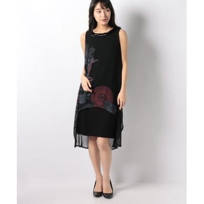 【デシグアル】 ドレス袖なし レディース ブラック系 42 Desigual