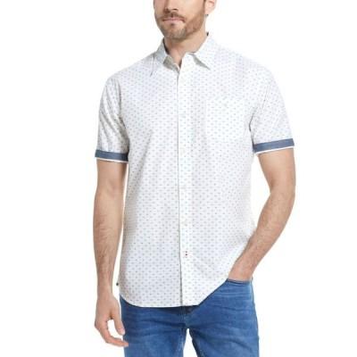 ウェザープルーフ メンズ シャツ トップス Men's Poplin Mini Print Shirt