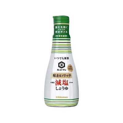キッコーマン いつでも新鮮 味わいリッチ減塩醤油 200ml×4個