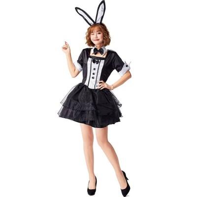ハロウィン  コスプレ ウサギ コスチューム 可愛い 衣装 レディース ハロウィン衣装 仮装 舞台衣装 二次元 動物 女性用 バニーガール  ハロウィーンd18