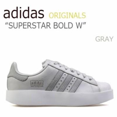 アディダス スニーカー adidas メンズ レディース スーパースター ボールド W SUPERSTAR BOLD W GRAY グレー CG3694 シューズ
