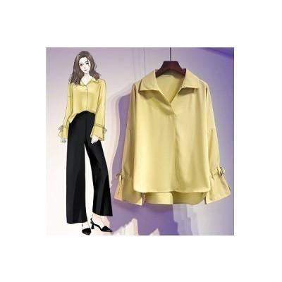 大きいサイズXL-5XL ファッション/人気ワイシャツ イエロー/ブルー/ホワイト3色展開