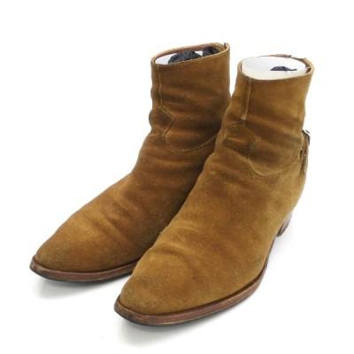 【11月23日値下】CELINE 2019SS 「JACNO Back Buckle Zipped Boots」スウェードジップブーツ ブラウン サイ