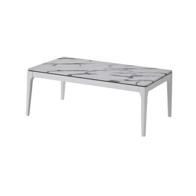 メラミン天板の大理石柄リビングテーブル<傷・汚れに強い>