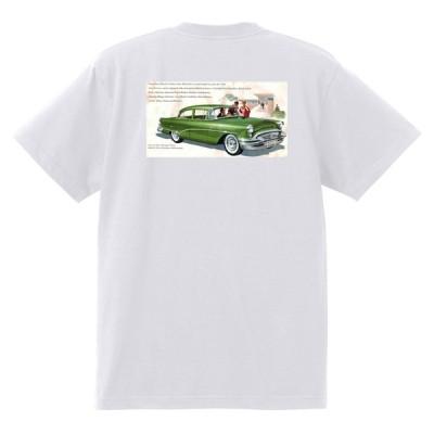 アドバタイジング ビュイック 286 白 Tシャツ 黒地へ変更可能  1955 スーパー リビエラ センチュリー ロードマスター オールディーズ
