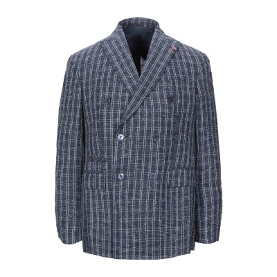 LA LORENZO ARTINI テーラードジャケット ダークブルー 48 レーヨン 70% / 麻 25% / ナイロン 5% テーラードジャケ