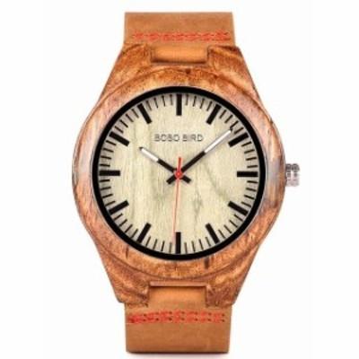 BOBO BIRD Q05メンズクォーツ時計ユニークなゼブラウッドとレジンを組み合わせたケース木製腕時計 Green dial
