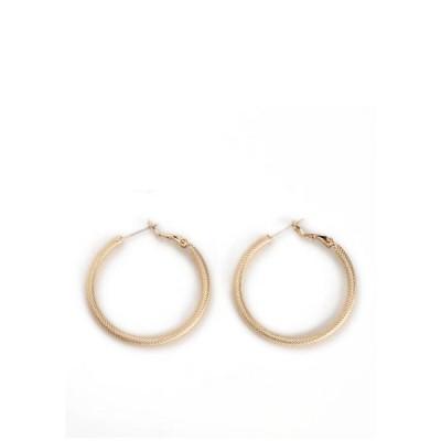 キム ロジャース レディース ピアス・イヤリング アクセサリー Sculptured Twist Hoop Earrings