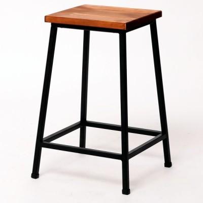 天然木とアイアンを使用したお洒落なスツール 木製スツール アイアンスツール カウンター 玄関椅子 玄関チェア 送料無料