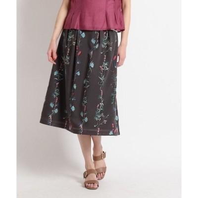 SunaUna / スーナウーナ 【洗える】プレスドフラワー ナロースカート