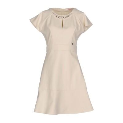 ブルーガール ブルマリン BLUGIRL BLUMARINE ミニワンピース&ドレス ベージュ 46 95% ポリエステル 5% ポリウレタン ミニ