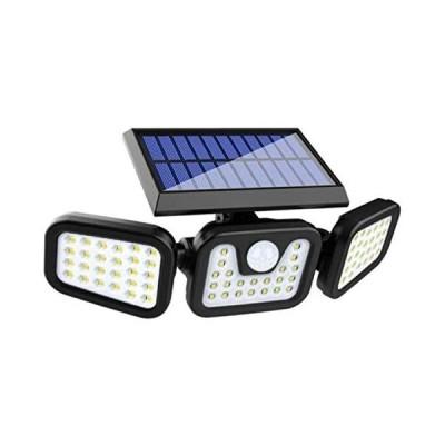 Aonice センサーライト 屋外 ソーラーセンサーライト 人感センサー自動点灯消灯 ソーラー充電 センサーライト 74LED