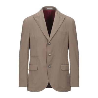 ブルネロ クチネリ BRUNELLO CUCINELLI テーラードジャケット キャメル 48 ウール 100% テーラードジャケット