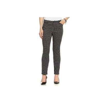 ジーンズ エヌ ワイ ディー ジェー NYDJ Cellia Grid-Print Skinny-Leg Trousers SKU: 0876562  Size 6 NEW!